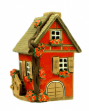 CASETTA BRUCIA-ESSENZE TERRACOTTA H 11,5 CM