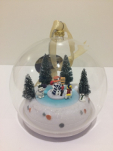 MR. CHRISTMAS GLASS SCENE ORNAMENT